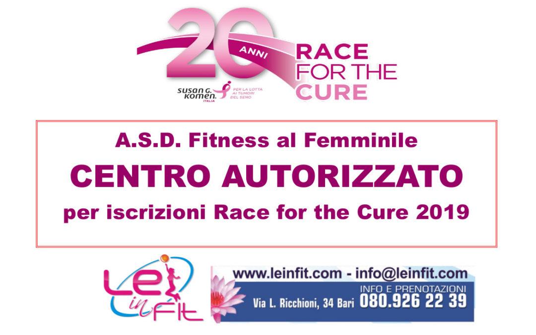 A.S.D. Fitness al Femminile – Centro Autorizzato per iscrizioni Race for the Cure 2019