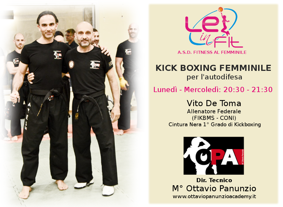 La Kick Boxing a DIFESA delle donne Lei in Fit